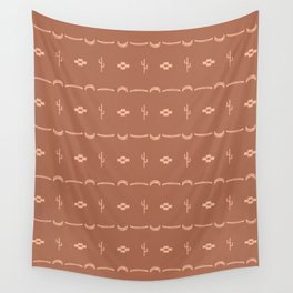 Adobe Cactus Pattern Wall Tapestry