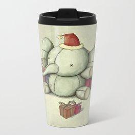 Happy Cute Elephant Metal Travel Mug
