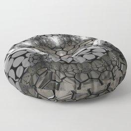 3D Quicksilver Spheres Balls Octagon Hexagon Ultra HD Floor Pillow