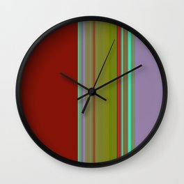 LILAC & RED Wall Clock