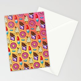 sweet tooth pattern Stationery Cards