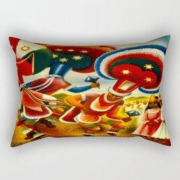 Oaxaca Mexico Vintage Travel Rectangular Pillow