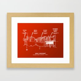 Red Soyuz Framed Art Print