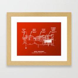 Red Soyuz Framed Art Print