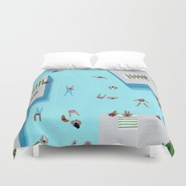 Crisp cut swim Duvet Cover