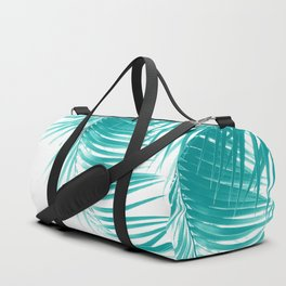 Palm Leaves Soft Turquoise Summer Vibes #1 #tropical #decor #art #society6 Duffle Bag