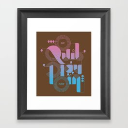 Quit Playin' (Color) Framed Art Print