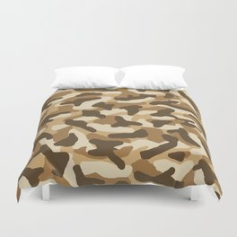 Brown Camo Camouflage Duvet Cover