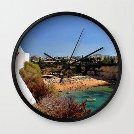 Praia de Nossa Senhora da Rocha The Algarve Portugal Wall Clock
