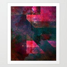 Pink Nebulae Art Print