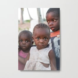 Curious Children Metal Print