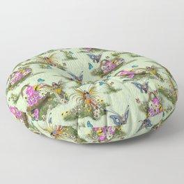Spring Fairy Butterflies Floor Pillow