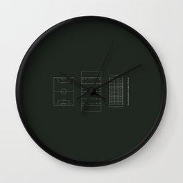 ..just the evolution & de-evolution of football Wall Clock