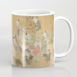 Children at Play Painted Chinese Scroll, 16th Century Coffee Mug