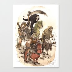 Four Horsemen Canvas Print