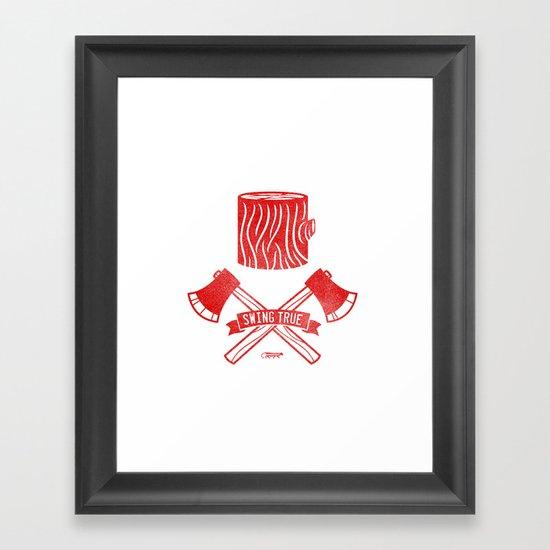 Swing True Framed Art Print