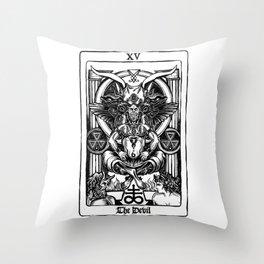 The Devil Tarot Throw Pillow