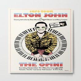 Elton Joh-n 1974 Concert Poster Metal Print