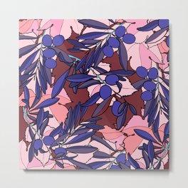 Pink Olives Metal Print