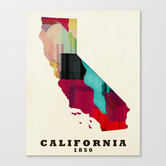 California state map modern Canvas Print