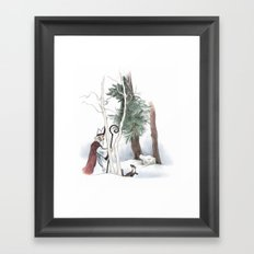 St Nicholas and the Pine Marten Framed Art Print