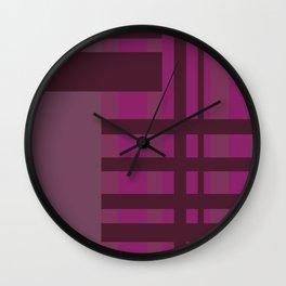 All is Purple Wall Clock