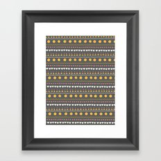 Thankful Rows Framed Art Print