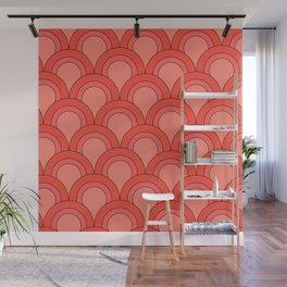 Fish Scales (coral) Wall Mural