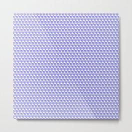Purple Splattered Heart Pattern Metal Print