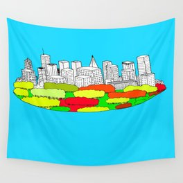 Skyscrapers in the trees Wall Tapestry