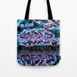 Pager Graffiti Mural Royal Stain Tote Bag