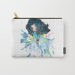 Blue nature with baby fox Carry-All Pouch