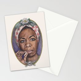 Watercolor Painting of Nina Simone Stationery Cards