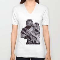 master chief V-neck T-shirts featuring Master Chief Pen Drawing by DeMoose_Art