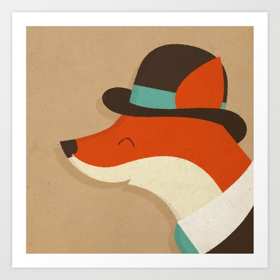 City Fox Art Print