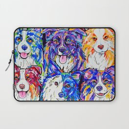 Collies in Colour Laptop Sleeve