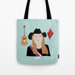 Willie Nelson & His Things Tote Bag
