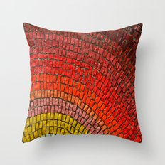 mosaic colors Throw Pillow