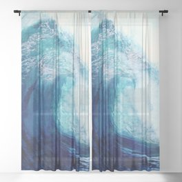 Waves II Sheer Curtain