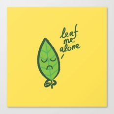 The introvert leaf Canvas Print