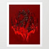 werewolf Art Prints featuring Werewolf by Kivapo