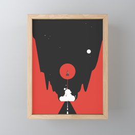 Valley Launch Framed Mini Art Print