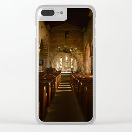 Holy Island Priory Clear iPhone Case