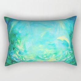 Undersea. Dolphins life Rectangular Pillow