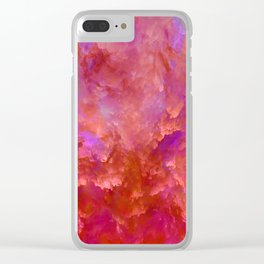 """Abstract Spring Fire"" Clear iPhone Case"