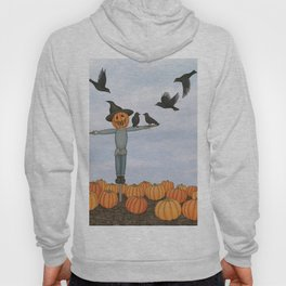 scarecrow and crows in the pumpkin patch Hoody