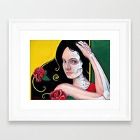 dia de los muertos Framed Art Prints featuring Dia de los Muertos by whiterabbitart
