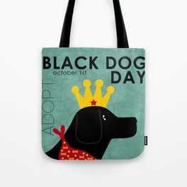 Black Dog Day Royal Crown Tote Bag