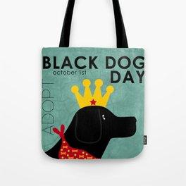 Black Dog Day Royal Crown Tote Bag