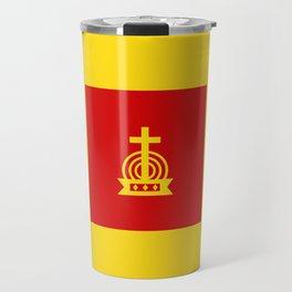Henny Maestro - Red on Yellow Travel Mug